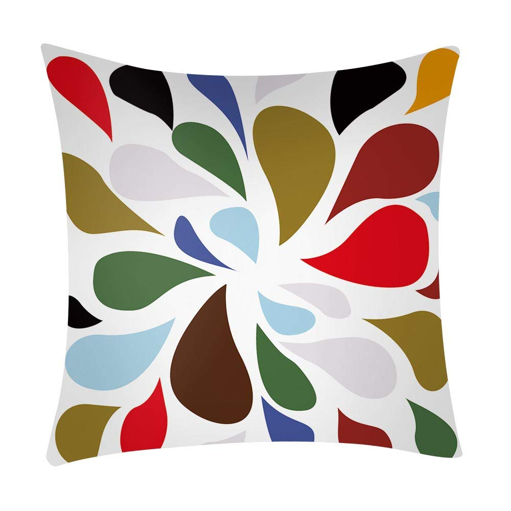 NUWFOR Print Pillow Case Polyester Sofa Car Cushion Cover Home Decor(H) by NUWFOR (Image #1)
