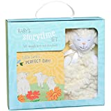 C.R. Gibson Little Lamb's Perfect Day Board Book and Stuffed Animal Set