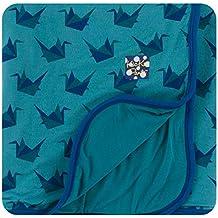 Kickee Pants Print Stroller Blanket - Seagrass Origami Crane