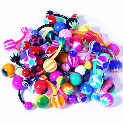 plastic belly button rings - 3