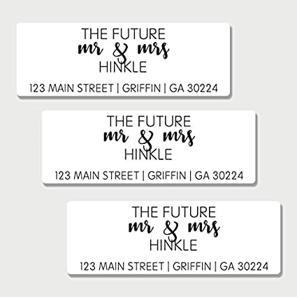 amazon com 60 personalized future mr mrs return address labels