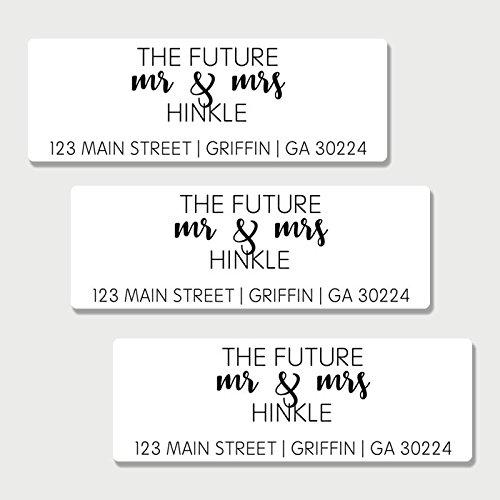 - 60 Personalized Future Mr & Mrs Return Address Labels - Save the Date Return Address Labels (AL1)