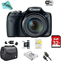 Canon Powershot SX530 HS 16MP Wi-Fi Super-Zoom Digital Camera 50x Optical Zoom Ultimate Bundle Deluxe Camera Bag, 32GB Memory Cards, Extra Battery, Tripod, Card Reader, HDMI Cable, LD Cloth & More
