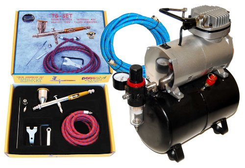 Paasche TG-SET Talon Airbrushing System with the Master TC-20T Air Compressor... by Paasche