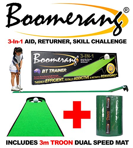 BOOMERANG MASTERSTROKE + 10ft Troon Mat - FIX YOUR PUTTING FAST & FOREVER by Boomerang Putting