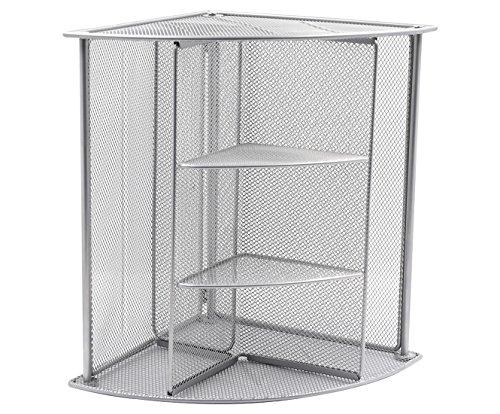 - EasyPAG Mesh Desktop Shelf Corner Organizer File Holder, Silver