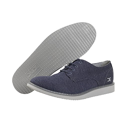 Dude Shoes Men's Verona Stretch Navy Derby Shoe Blue