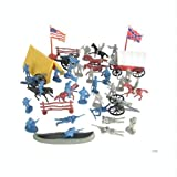 Civil-War-Soldier-102-Piece-Playset-Bucket-of-54mm-Plastic-Army-Men-and-Accessories-132-Scale