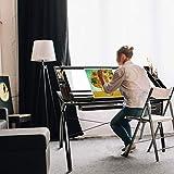 BAHOM Adjustable Drafting Table Glass Top, Art