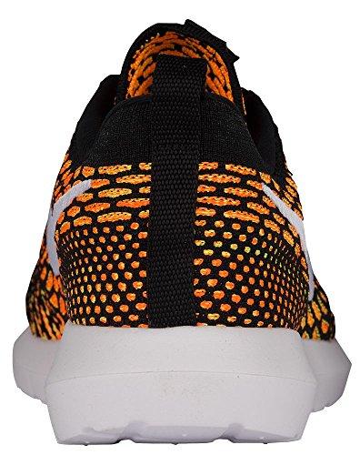 Nike Men's Roshe NM Flyknit Shoe, Scarpe da Ginnastica Uomo Black, White-total Orange-volt
