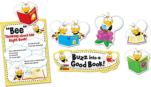 Carson Dellosa Bulletin Board Set, Buzz-Worthy Bees Reading (110283)