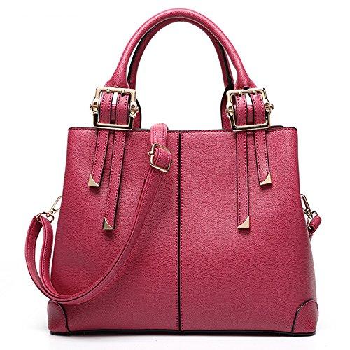 Donne Decorazione Sacchetti Rosa Di In Borsa Lavoro Spalla Tote Signore Grande Metallo Capacità 5EPqp