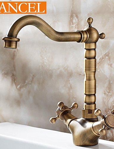 centerset Antike-Messingbadezimmer einzigen Handgriff Waschbecken Wasserhahn