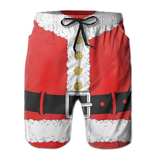 QR FUNK Mens Christmas Santa Claus Cloth Quick Drying Beach Shorts Swim Holiday Trunks X-Large