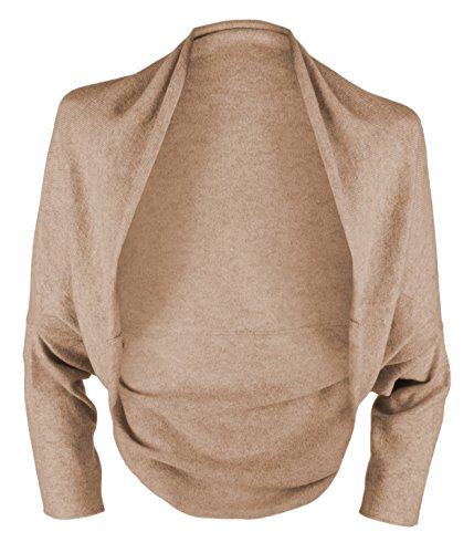 Ladies 100% Cashmere Wrap Sweater - Light Natural - handmade in Scotland by Love Cashmere - RRP $430 by Love Cashmere (Image #1)