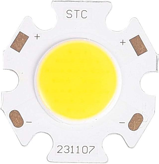Othmro 7 W 21-24 V 300 mA 1 unidad de módulo de luz COB chip COB blanco cálido 3000 K 110 lm pieza de repuesto 20 mm x 11 mm (largo x ancho)