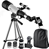Image of Gosky 70mm AZ Astronomy Telescope 70400 - Refractor Travel Scope for Beginners and Kids - With Tripod and 10mm Eyepiece Smartphone Adapter - Get the World Into Screen