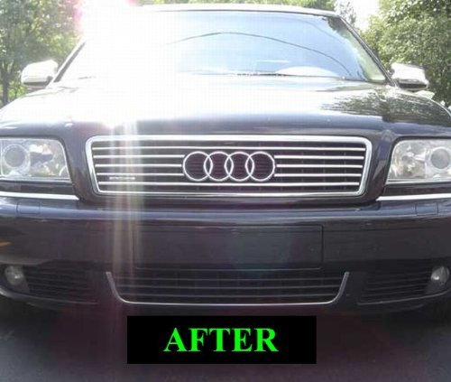 1997 2005 audi a8 s8 upper chrome grill grille kit 1998. Black Bedroom Furniture Sets. Home Design Ideas