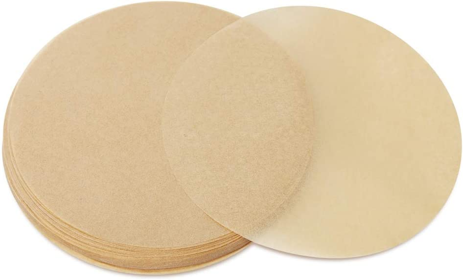 Geesta 200 Pack Parchment Paper Rounds, 6 Inch Baking Parchment, 6/8/10 inch Dual-Sided Wax Parchment Circles, Round Parchment Paper Perfect for for Round Cake Pan, Springform Pan, Tortilla Press