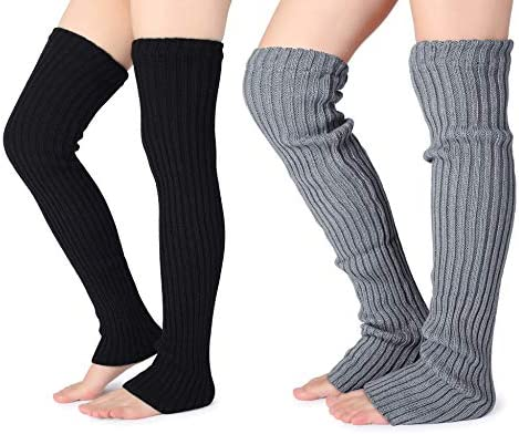 Womens Over the Knee Leg Warmer Casual Cotton Long Socks Running Protector