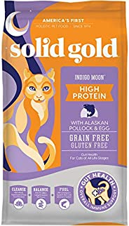 Solid Gold - Indigo Moon - High Protein & Grain-Free - Holistic Dry Cat Food for All Life St