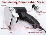 110v/60hz Professional and Commercial Electric Shawarma Knife, Gyro Knife, Doner Kebab Slicer --- 2 Blades Included