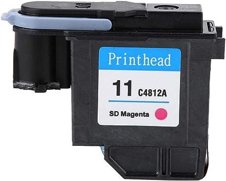Samfox Cabezal de impresión, Cabezal de impresión Natural Sin atasco de Papel Cabezal de impresión C4812A Compatible con H-P 500 510 Serie 800(Rojo): Amazon.es: Electrónica