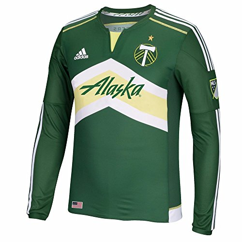 adidas Portland Timbers MLS Men's Green Authentic On-Field Long Sleeve Jersey (2XL)