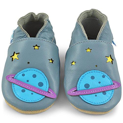 58ba053f75e Piel 12 Niña Bebe Para Con 6 Meses Bebé De 6 Niño – Cuero Primeros 18 Pasos  Zapatos 18 Pantuflas Zapatillas Saturno Patucos ...