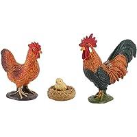 Generic PVC Animals Model Toys Creature Figurines Miniature Sand Table Farm Scenes Accessories - Chicken