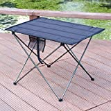 OTTAB Portable Foldable Table Camping Outdoor Furniture Computer Bed Tables Picnic 6061 Aluminium Alloy Ultra Light Folding Desk SC247S56GR