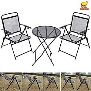 Amazon.com : STRONG CAMEL Bistro set Patio Set Table and ...