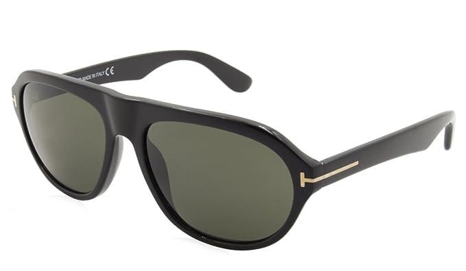baa8ed0aa6 TOM FORD Mens TF0397 Ivan Sunglasses 01N Shiny Black