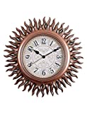 Imoerjia Retro-American Wall Clock in Living Room Decor Personalized Solar Quartz Clock, Creative Mute Wall Clock, Quartz Watches, B