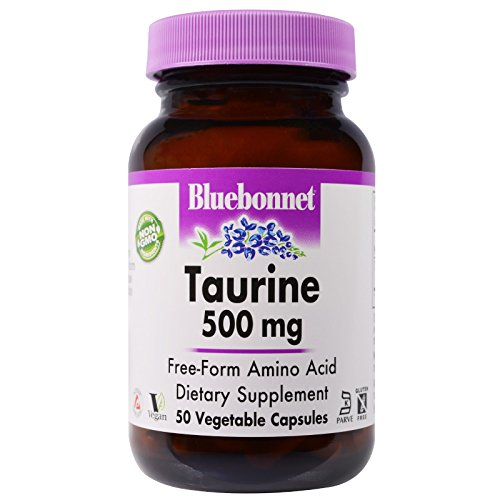 (Bluebonnet Nutrition, Taurine, 500 mg, 50 Veggie Caps - 3PC)