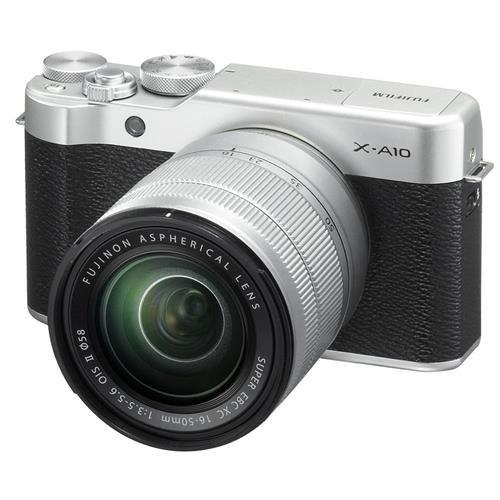 Fujifilm X-A10 Mirrorless Camera XC16-50mm F3.5-5.6 OIS II Kit - Silver by Fujifilm
