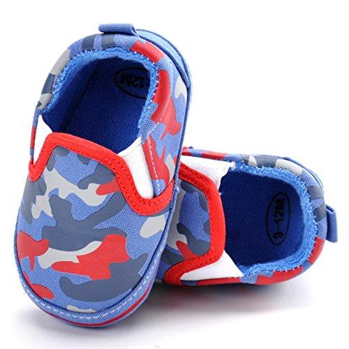 leap frogInfant Boy Camouflag Sneakers - Zapatos Planos con Cordones Bebé-Niñas Azul