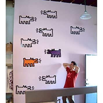 Blik Pack Of Dogs Wall Stickers By Keith Haring Part 12