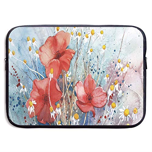 (Funny Design Poppies of The Field Laptop Sleeve Waterproof Neoprene Diving Fabric Protective Briefcase Laptop Bag for IPad, Notebook/Ultrabook/Acer/Asus/Dell)