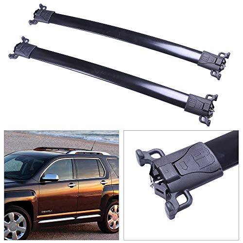 cciyu Universal Aluminum 38 Inch Roof Rack Cross Bar Car Top Luggage Carrier Rails Fit for 2010-2017 Chevrolet Equinox 2010-2017 GMC Terrain ()
