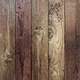 "Tools & Hardware : Wood Peel and Stick Film Vintage Wood Panel Wallpaper Self Adhesive Removable Wall Covering Decorative Faux Distressed Wood Plank Wooden Grain Vinyl Decal Roll 17.8""x78.7"""