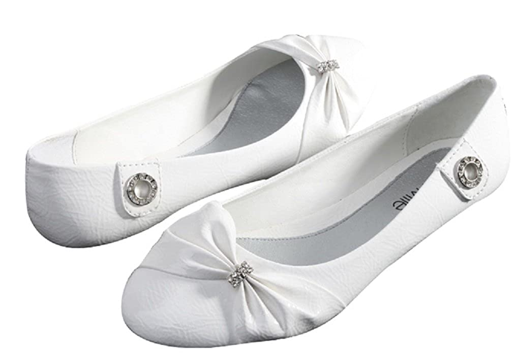 Sunville Womens Fashion Bow Ballet Flats