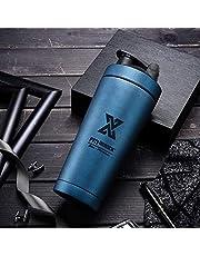 X SIM FITNESSX 700 ml/600 +200 ml Sport Fitness RVS Protein Shaker Eiwit   Eiwit Proteinshake Bottle
