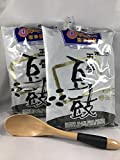 "KC Commerce Fermented Black Beans-Chinese Douchi 16 oz Pack of 2 With Free 6.75""Wodden Spoon"