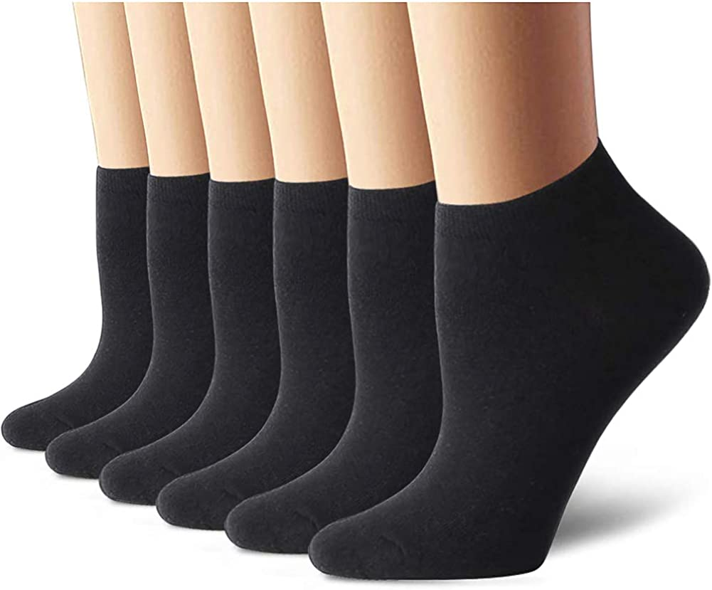 Details about  /Women Ankle Socks Casual White Gray Black Point Low Cut Soft Cotton Sock Lot
