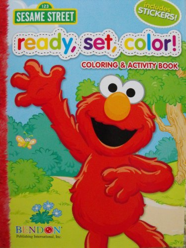 Sesame Street Ready, Set, Color! Coloring and Activity Book with 30 Stickers 144 -