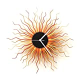 Medusa copper L - Copper and Gold Colored Large Size Contemporary Wooden Wall Clock, a Piece of Wall Art
