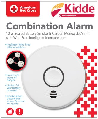 Alarm Voice Co (Kidde P4010ACSCO-W 120-Volt Hardwired Combination Smoke/CO Voice Alarm with Intelligent Wire-Free Interconnect and 10-Year Battery (1))