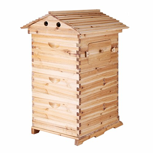 Popsport Bee Hive House 3 Layers Beehive Frames Beehive Wooden House...