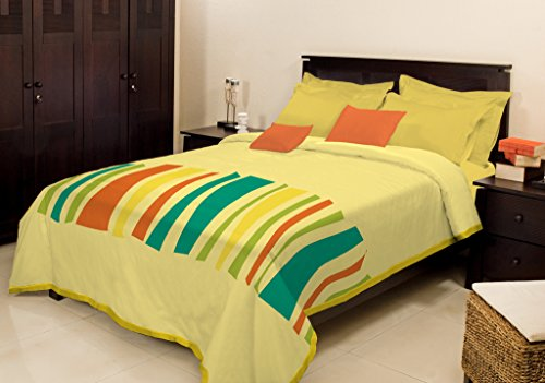 Bombay Dyeing Cosy Polyester Single Blanket – Light Yellow